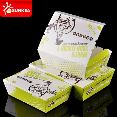 Take Away Hot Food Paper Packaging Box