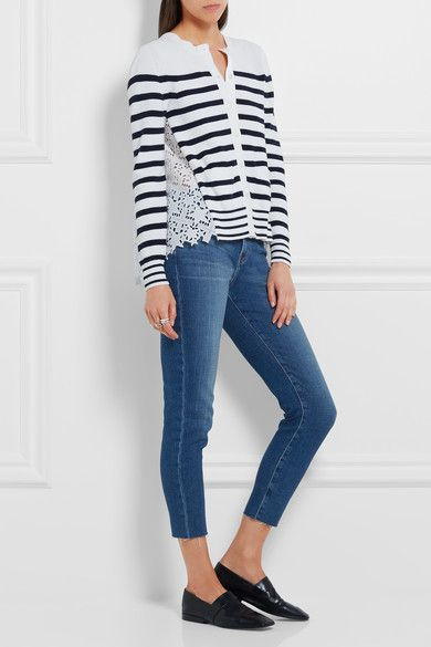 L'Agence - Marcelle Cropped Low-rise Skinny Jeans - Mid denim -