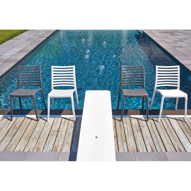chaises en rsine empilables sunday grosfillex - Grosfillex