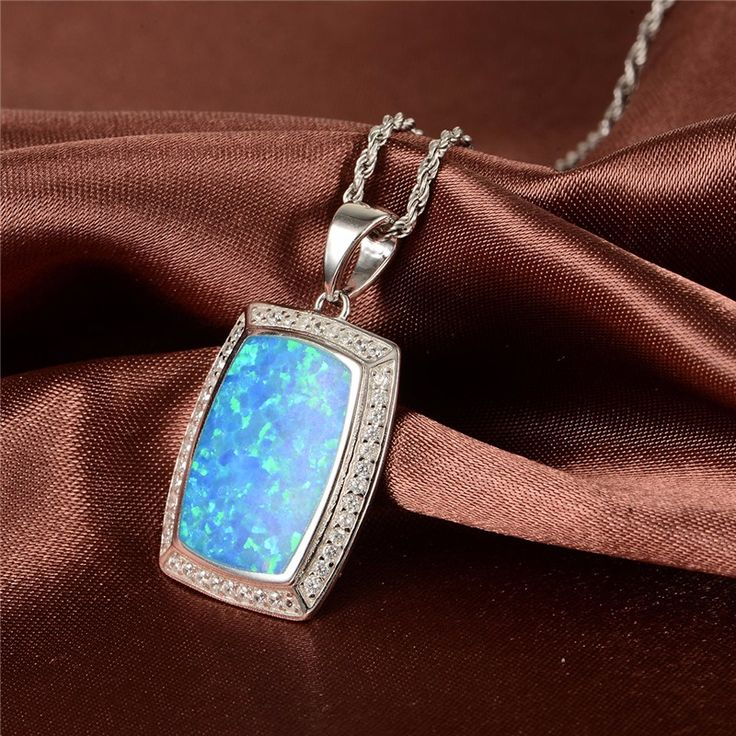Real Opal Sapphire Mystic Pendant Lower Actual Pure 925 sterling Silver Pendant Model New For Girls GW High quality Jewellery FP316H80 - Silver Jewellery 925 - SHOP NOW