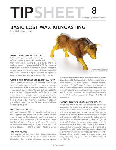 tipsheet, basic lost was kilncasting