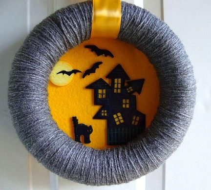 like the idea if using a wreath as a frame (scene behind it)...  so many possibilities (not just Halloween!).