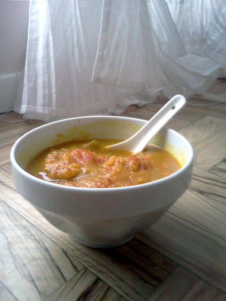 Vellutata di zucca, lenticchie rosse e curry... mannaggia a Facebook !!