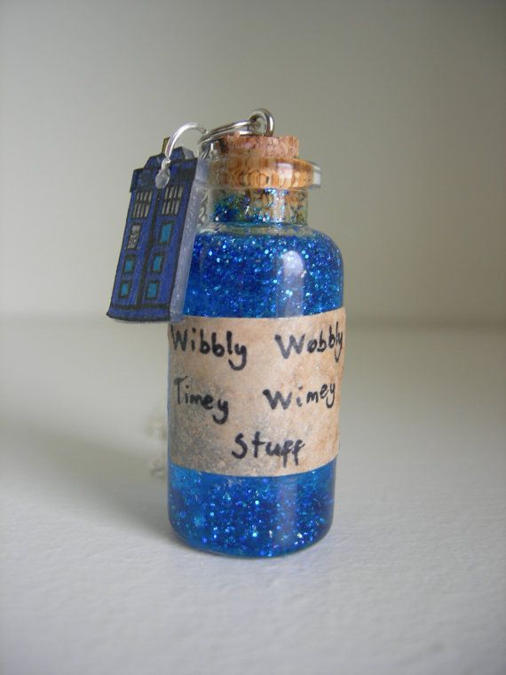 Wibbly Wobbly Timey Wimey Doctor Who Bottle Necklace by RaggedyFox, £8.00 #doctorwho