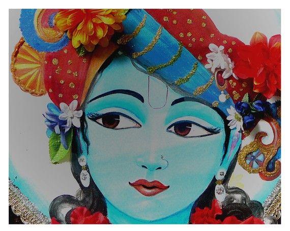 Archival print, wall art, Love, Krishna the Lotus eyed one, sacred spaces, meditation rooms, yoga studios