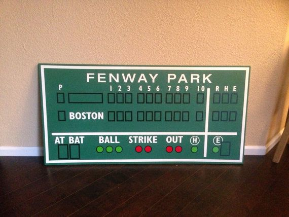 Boston Red Sox decor, Fenway Park, Green Monster score board