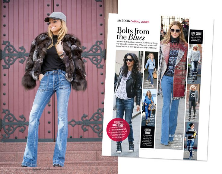#InspiredByInStyle: Reader of the Week Lauren Recchia Test-Drives Fall's Biggest Denim Trend from InStyle.com #DenimFlashback #Flares