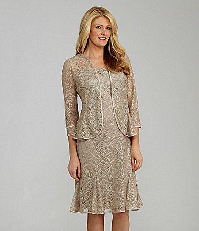 Km collections crochet jacket dress dillards mother of for Dillards wedding dresses mother of the bride