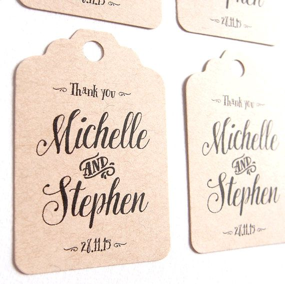 Personalised favour tags x 10 High quality kraft by LittleWhiteMouse #etsy #etsyau #wedding #kraft #favour #tag #engagement