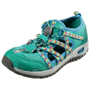 Chaco Outcross Water Shoes for Kids - Marine Green - 3