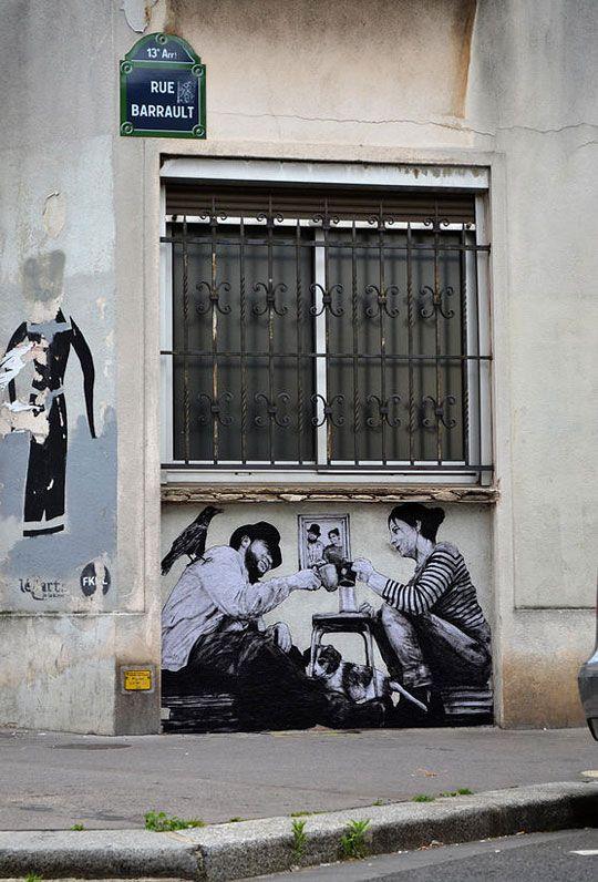 Ah la tienne Etienne...! / Street art. / By Charles Levalet.