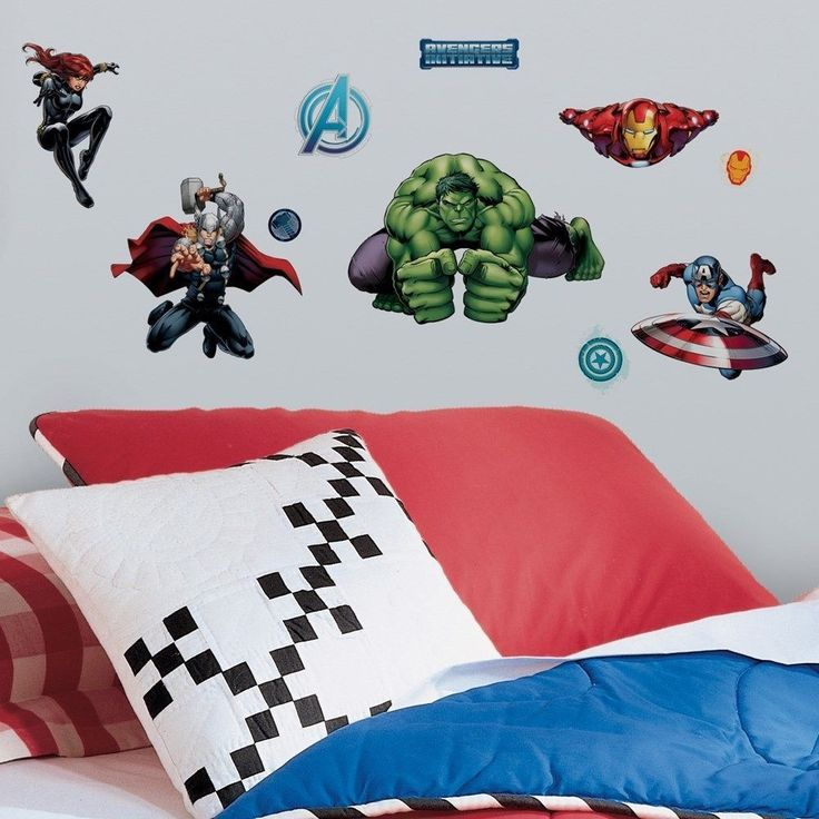 avengers wall decals stickers set marvel 28 pieces new hulk thor captain america in home boys bedroom decorkids