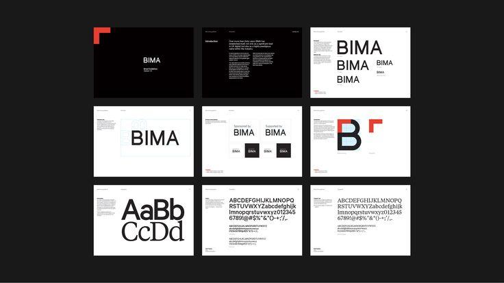 BIMA brand identity - Fonts In Use