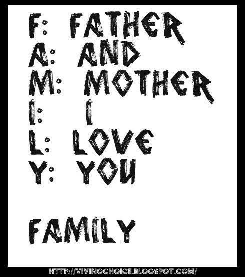 Father And Mother I Love You