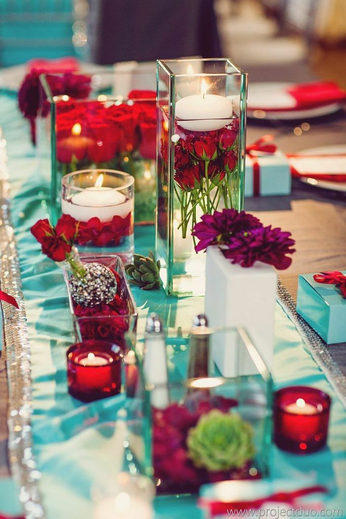 tiffany blue and black wedding decorations%0A Tiffany Blue and Red Atlanta Wedding at Agnes Scott from Lemiga Events