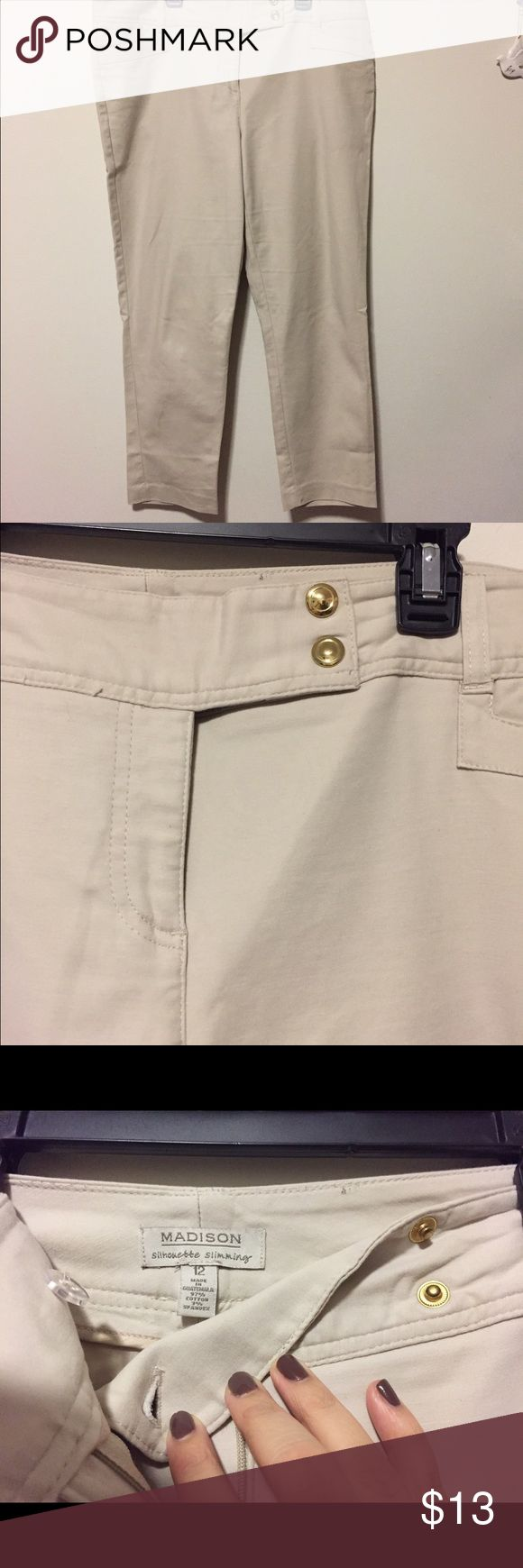 Dressy khaki capris Really nice material. Only wore them once for a school function. Great for work. Pants Capris