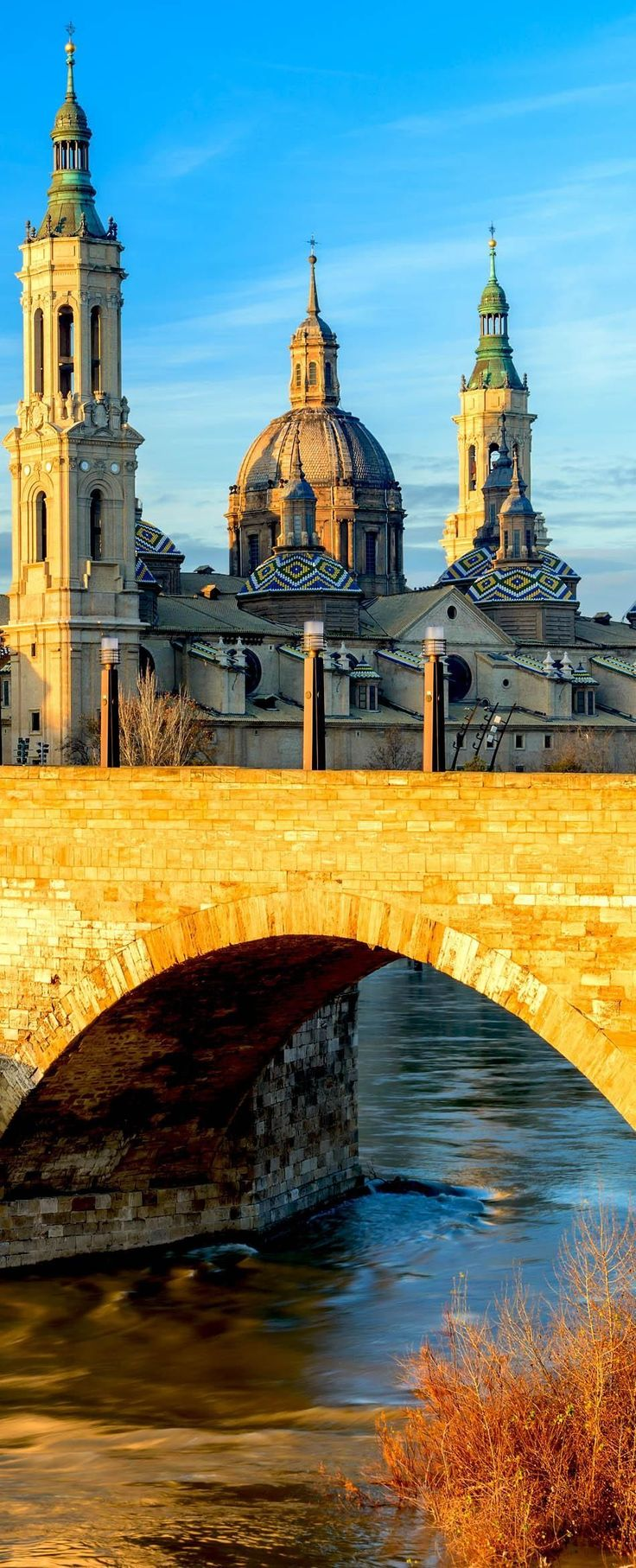 View of Basilica Pilar in Zaragoza, Spain, a Roman Catholic church which supposedly is the first church placed in Mary's name | 24 Reasons Why Spain Must Be on Your Bucket List. Amazing no. #10                                                                                                                                                     More