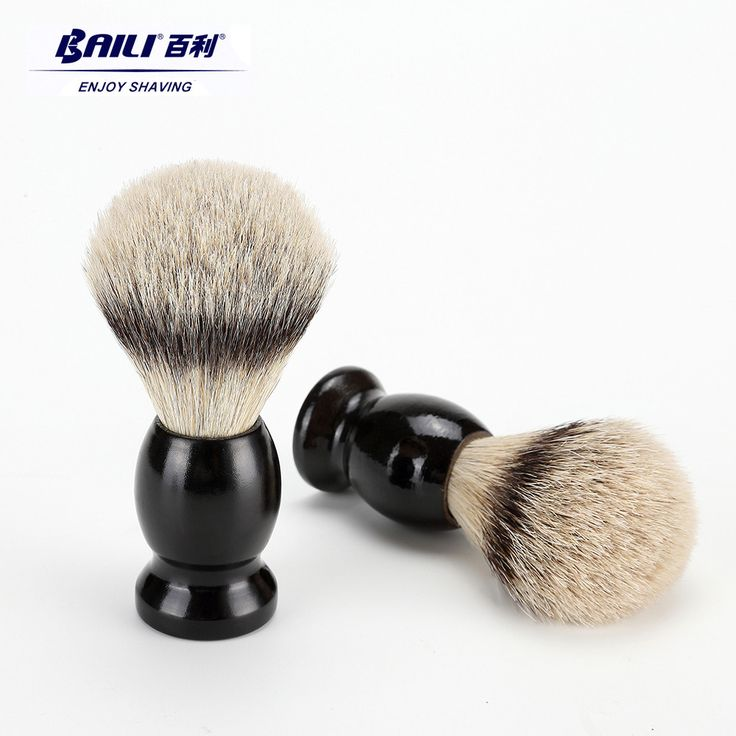 BAILI Wet Shaving Brush Animal Hair Bristles for Men's Beard and Moustache