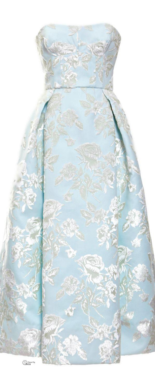Rochas ● SS 2014, Duchesse Strapless Dress