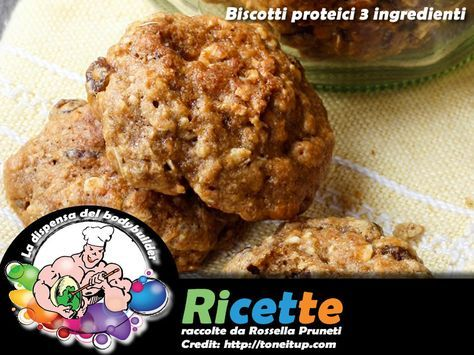 Biscotti proteici 3 ingredienti