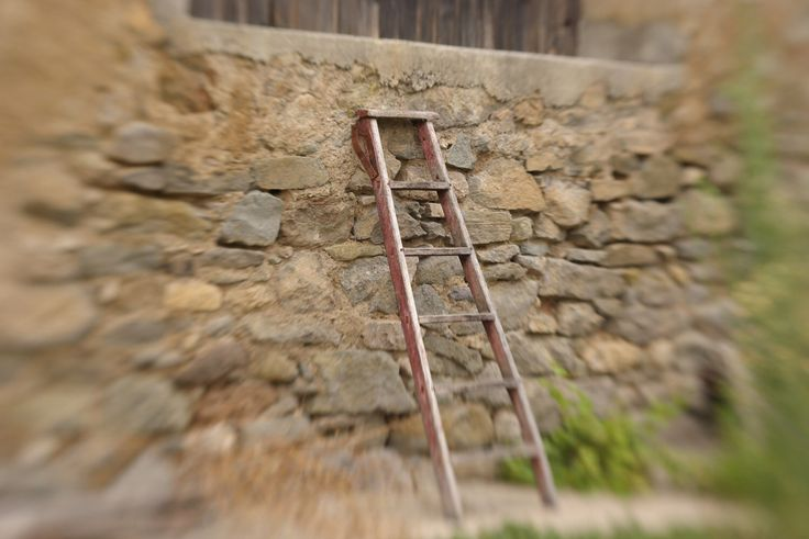 A personal favorite from my Etsy shop https://www.etsy.com/uk/listing/218354044/vintage-ladder-on-an-old-stone-wall-fine