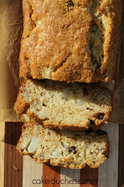 banana pear bread with chocolate chips   Cake Duchess