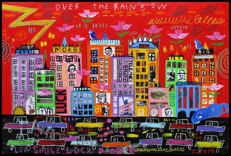 Troy Henriksen - Over The Rainbow - Mixed medias on linen canvas - 130 x 195 cm - 2014 - Galerie W - Contemporary art Gallery in Paris #galeriew #gallery #w #gallery w #troy-henriksen @galeriew