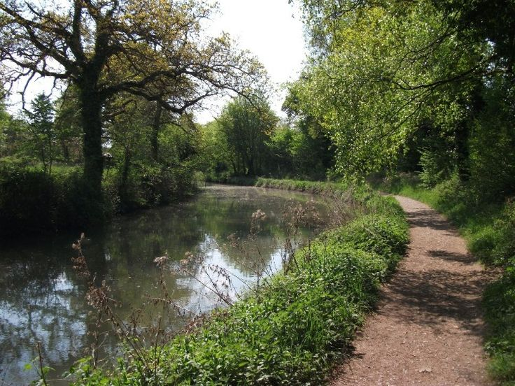 The Basingstoke canal that passes through Fleet