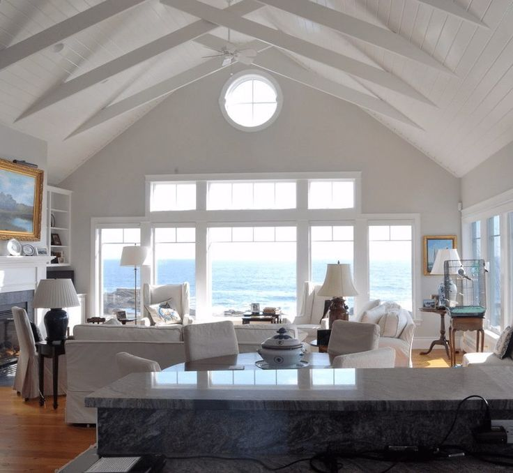 This coastal cottage is perched just a bit above the ocean that has carved out the rugged Maine coastline. The interior is a haven where the residents watch the ocean in its dark fierceness and in its sunny brilliance. With the three-sided view of the natural splendor that surrounds the home, there is no mistaking …