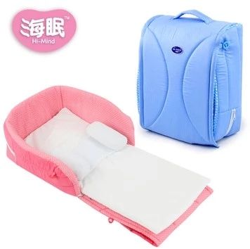 New Baby Crib 0-3 Years Baby Bed With Pillow Mat Set Portable Foldable Crib With Netting Newborn Cotton Sleep Travel Bed