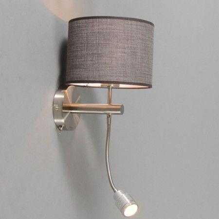 Wandleuchte Combi Stahl Mit Schirm Braun Grau. #Wandleuchte #Wandlampe  #Leseleuchte #. Schlafzimmer LampeFarbe ...