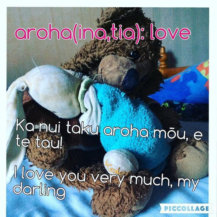aroha(inatia): love Ka nui taku aroha mōu e te tau! I love you very much my darling! #tereo #Māori #languagelearning #aroha #love Kupu from: kaitiaki@kupu.maori.nz