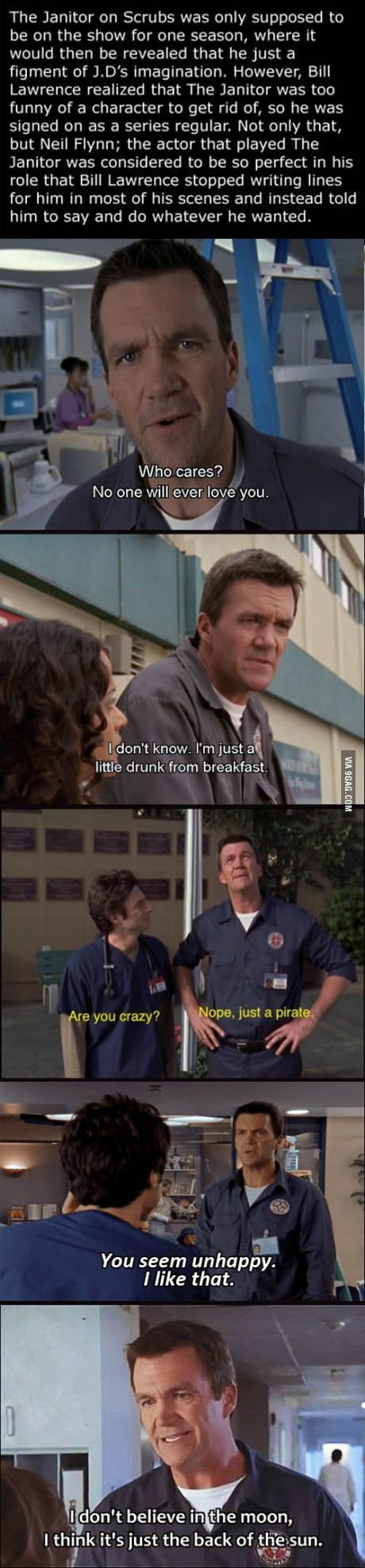 Neil Flynn (Janitor) on Scrubs
