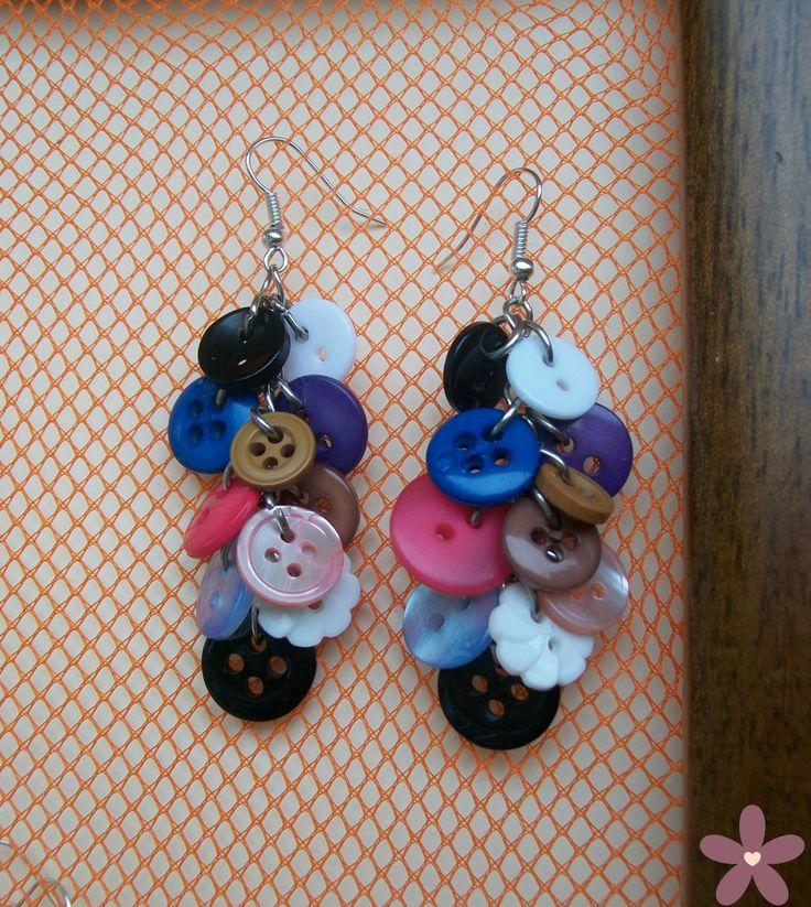 """buttons earring_orecchini """"grappolo di bottoni"""""""