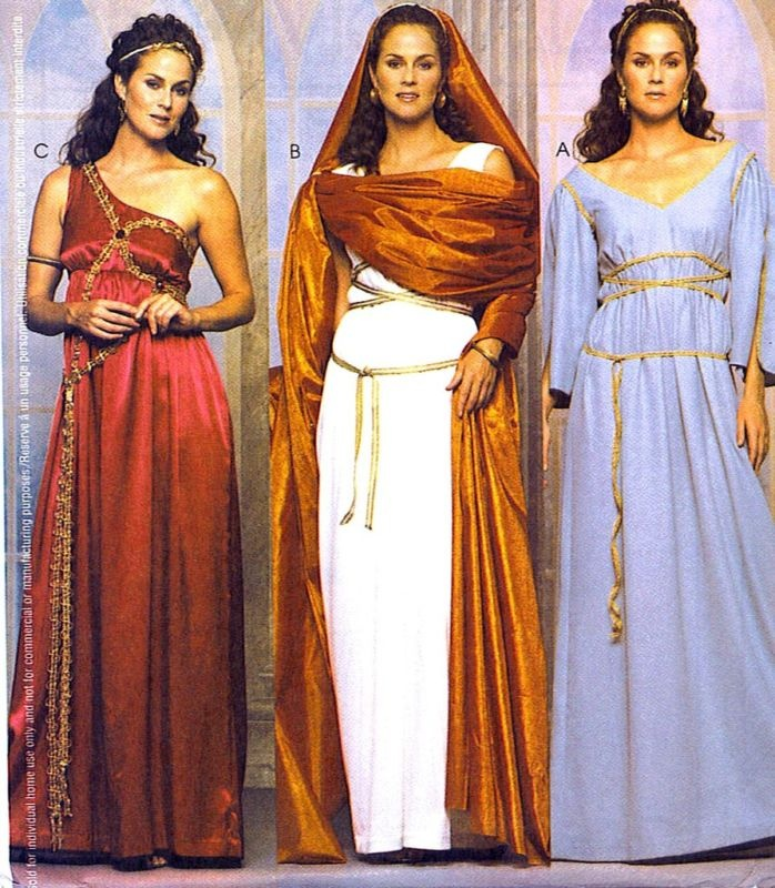 great pattern for roman, Greek, or biblical  costumes.