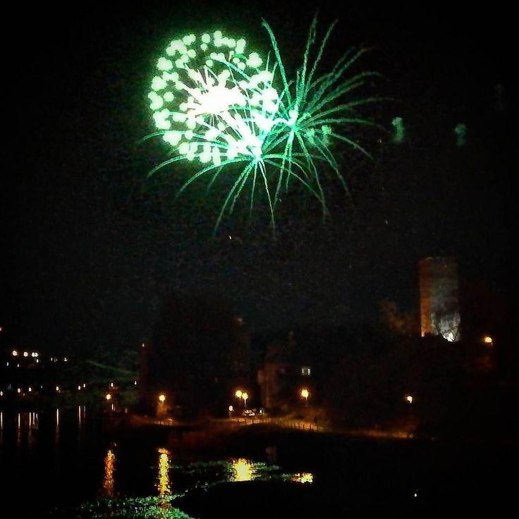 Novoroční ohňostroj v Kolíně #kolin #ohnostroj