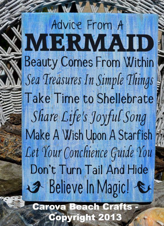 Mermaid Beach Sign Beach Decor Mermaids By