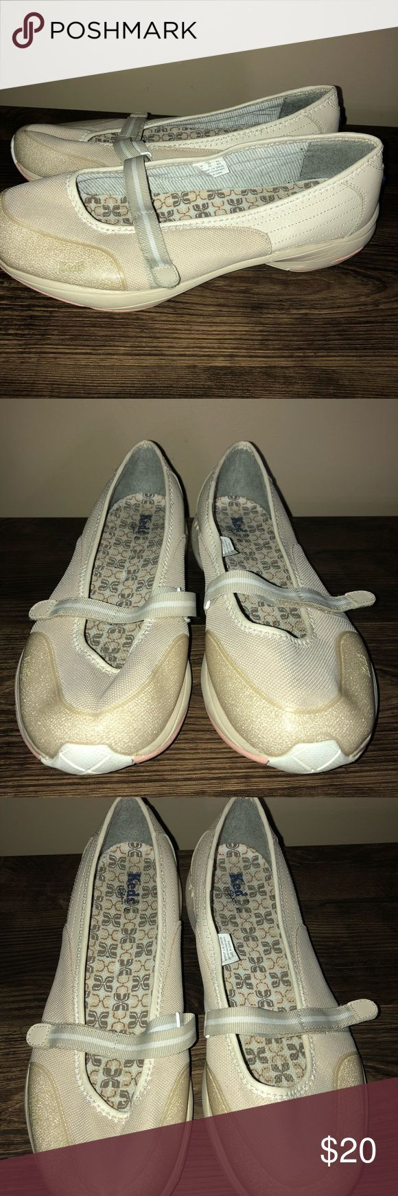 Keds Size 11 Beige Slipon Skid Resis Walking Shoes This pair of shoes is up for sale! Great condition! Cute!  ❤ Off-white, like a creamy color ❤ Slipon, no ties ❤ stylish yet functional  ❤ Size Measured in Pictures 🔍📏   ✅ Bundle up items and save 💲✅  ❤️I love reasonable offers. ❤️ 🎉 Pair w/jewelry, acc. or shoes🎉 🆕 New items every week! 🆕  I'm a mama on a mission. I sell items online to support my 2 sons. Every purchase is important to us. Thanks for your support. Keds Shoes Athletic…