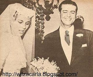 Maria da Glória Drumond e Ibrahim Sued, casamento em 1958.