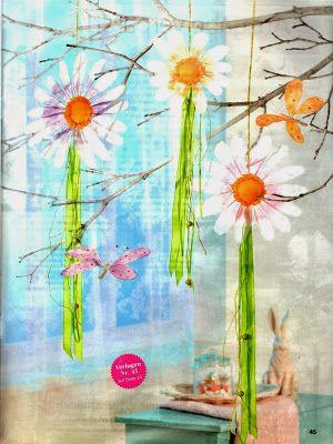 paper flowers, paper chain for kids, spring crafts, papierové kvety, jarné tvorenie