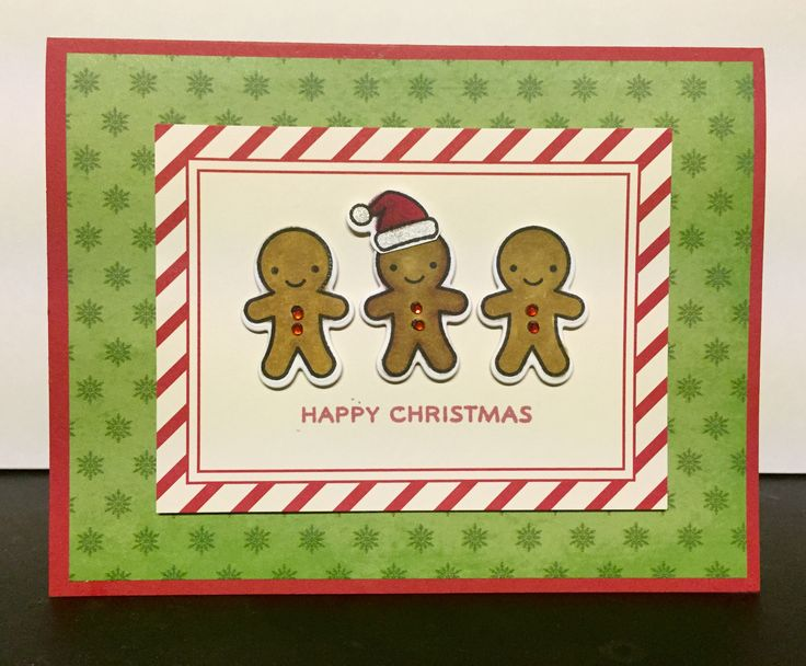 card cake gingerbread cookie man men christmas Lawn Fawn Oh Snap, Stampin Up Project - kort jul julekort honningkage mand honning kage mænd glædelig jul kagemænd kagemand