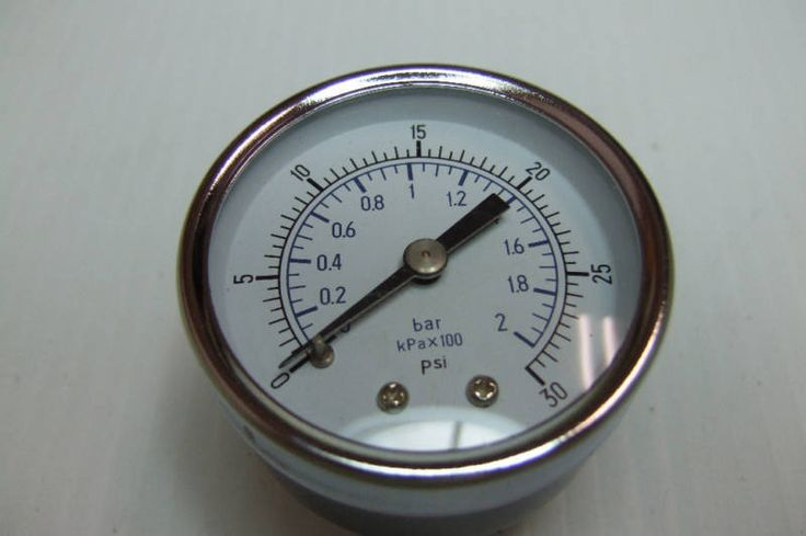 """You are buying one new 30 PSI Gauge. Photos show the item for sale.      Type: 2""""     Range: 30 PSI / 200 kPa     Conn: 1/4"""" NPT"""