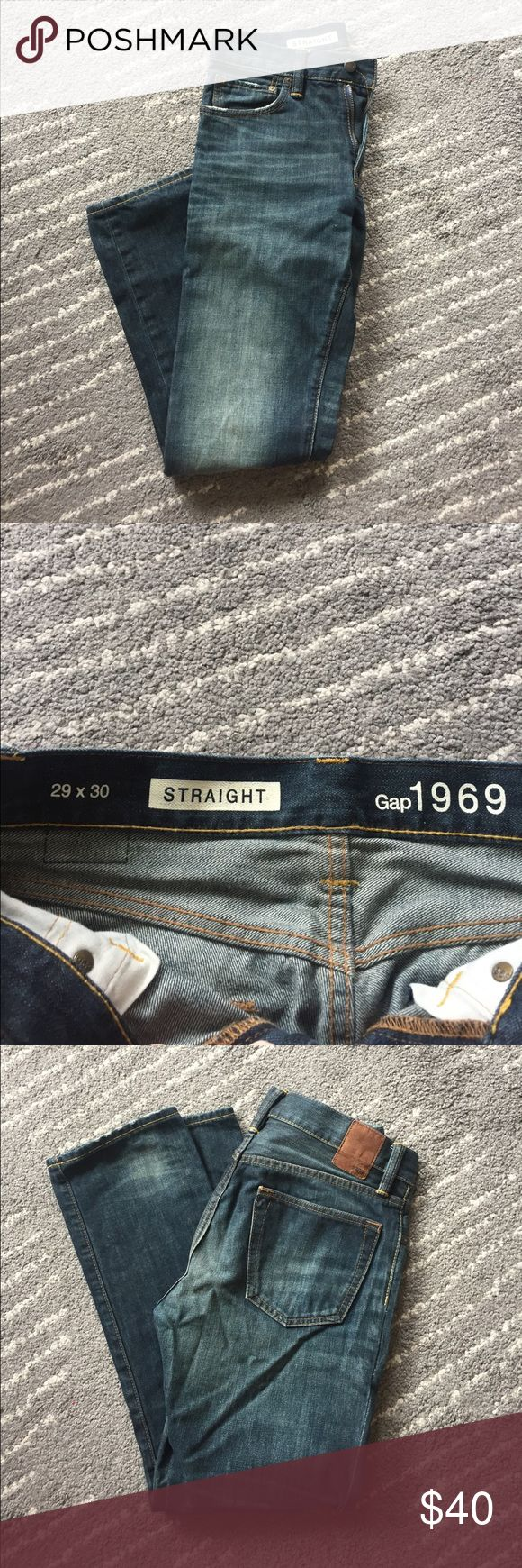 Gap Jeans - Men's 29x30 Straight Fit Gap Jeans, 29x30 GAP Jeans Straight