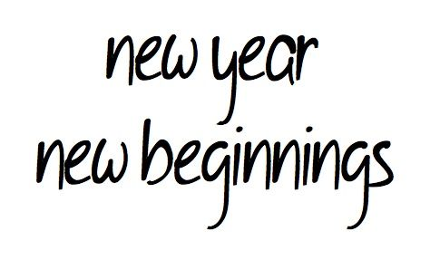 New year brings with it new beginnings! What new beginnings are you planning on?