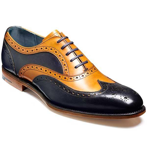 Barker Shoes – Jensen Oxford Brogue – Cedar Calf & Blue Calf