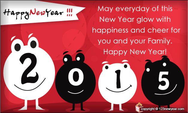 #Happynewyear 2015 #Wishes #Greeting Card