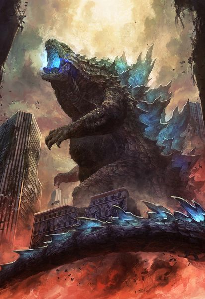 I really like this GODZILLA (2014) fan art!
