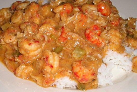 Shrimp or crawfish Etoufee, just tried it for the first time and my boyfriend loved it.. Better save this one