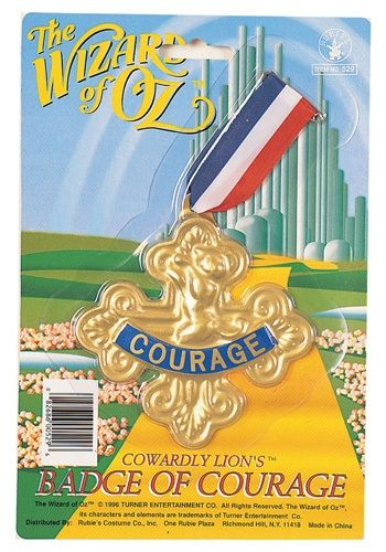 Cowardly Lion Badge of Courage - Wizard of Oz Accessory $5.99