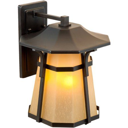 Litex Industries Outdoors Wall Lighting Litex Outdoor Wall Light Fixture, Aged Bronze Finish with Scavo Glass, Coach Lamp, 2-Pack